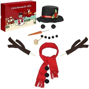 Colovis 16pcs Snowman Decorating Kit Snowman Making Kit Winter Party Kids Toys Christmas Holiday Decoration Gift