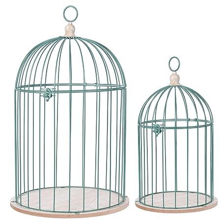 PhiLuMo - Jaula Decorativa para pájaros (2 Unidades, Metal ...