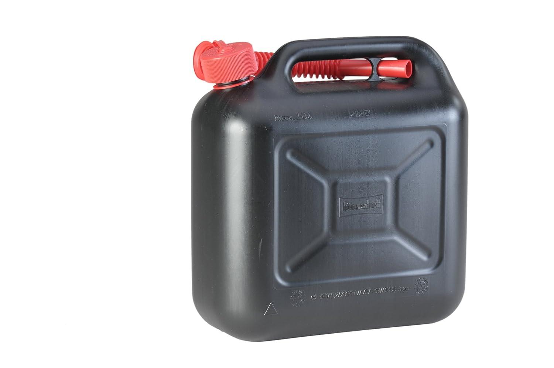 H/ünersdorff Bid/ón para carburante STANDARD 10/L PEAD Negro accesorios rojos con homologaci/ón UN