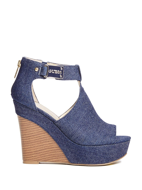 5c1154b6914 Guess Factory Women s Rayna Denim Wedges  Amazon.ca  Shoes   Handbags