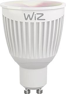 Bombilla LED WiZ inteligente con conexión WiFi, casquillo GU10, luz blanca y de colores