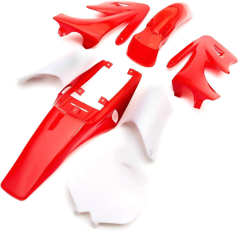 Mini Moto Dirtbike Red Plastic /& Seat Set Minimoto Pocket Dirt Bike Fairings