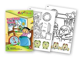 quac kduck libro para colorear Tell The Time – Wieviel Reloj es? – Coloring Booklet