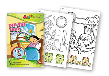 quac kduck libro para colorear Tell The Time – Wieviel Reloj es? – Coloring Booklet