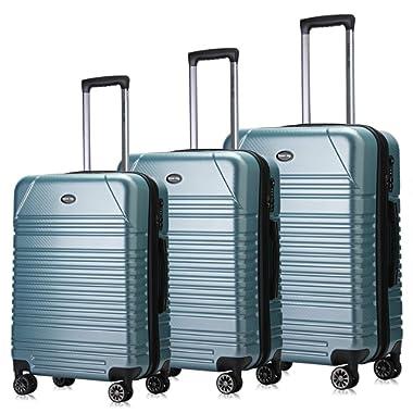 Travel Joy Expandable Spinner Luggage Set,TSA lightweight Hardside Luggage Sets, 20  24 28 inches Carry On Luggage