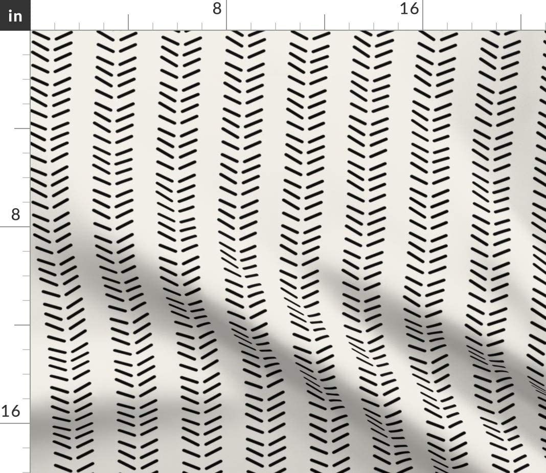 Pinwheels By Holli/_Zollinger Set of 4 Modern Geometric Triangles Lamona Cloth Placemats Cloth Placemats by Roostery with Spoonflower
