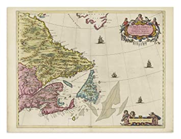Carte Historique Canada.The Blaeu Prints Nord Du Quebec Canada Newfoundland And
