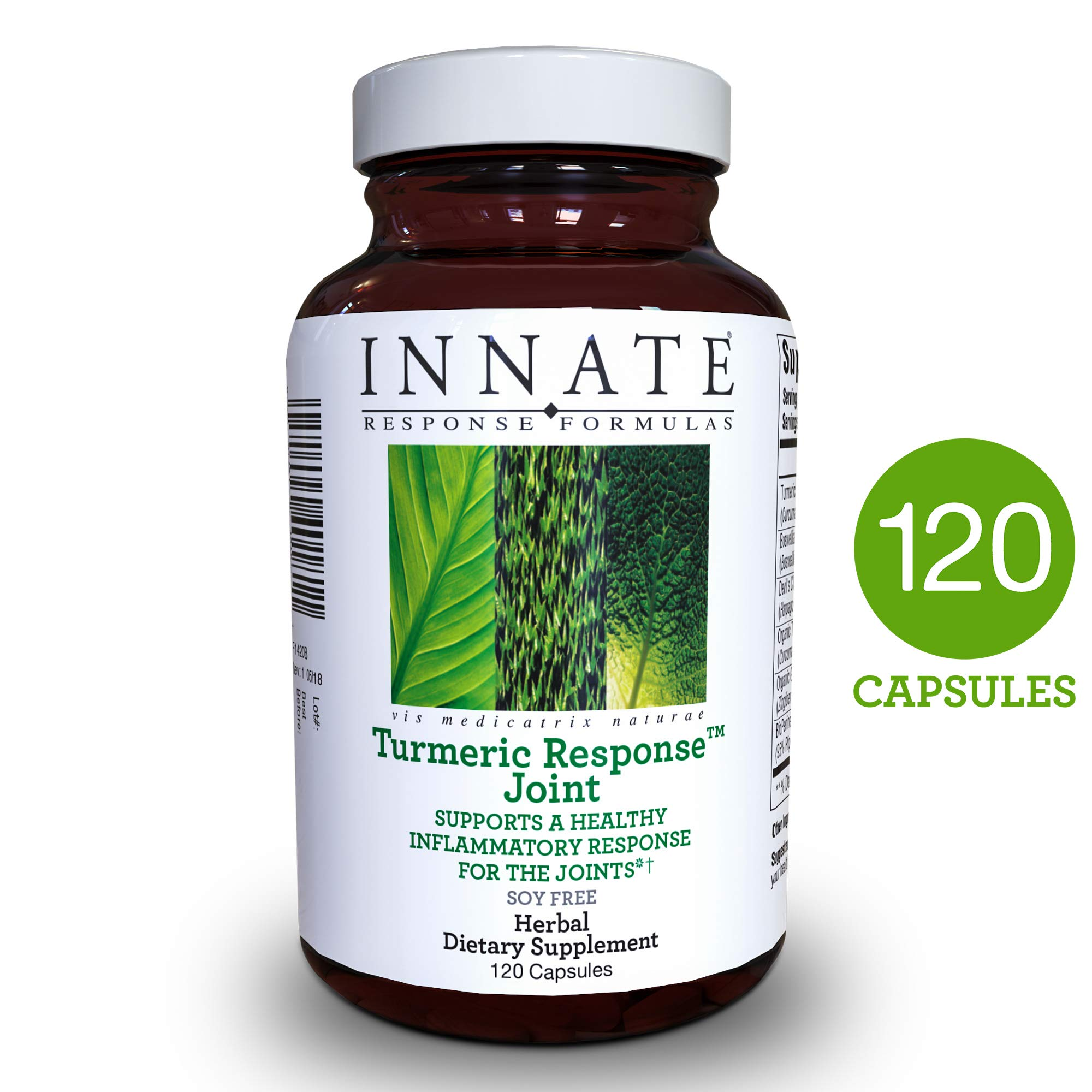 INNATE Response Formulas - Turmeric Response Joint, Support for Healthy Inflammatory Response in The Joints with BioPerine Black Pepper Fruit Extract and Devil's Claw, 120 Capsules