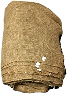 Light Weave Jute-Burlap Gardening Liner 50 inch x 8 feet , Disposable Wire Basket Burlap Planter Liners   Root Ball, Seeding Bed Covering Burlap, Garden Cover and Erosion Control