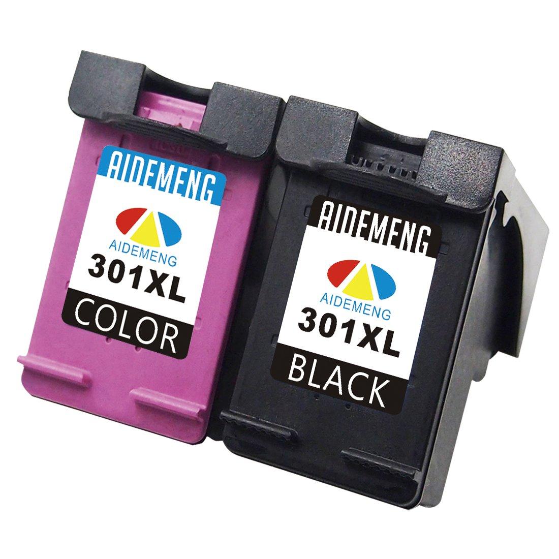 AideMeng Remanufacturado Reemplazo para HP 301 XL Cartuchos de tinta (1 Negro, 1 tricolor) Compatiable con HP Deskjet 1000 1010 1050 1050A 1510 1512 ...