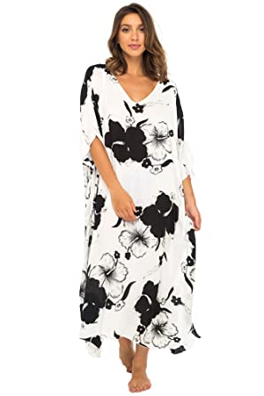 7f905fd44368a Back From Bali Womens Maxi Swimwear Cover up