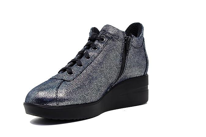 d6eb98100cbea AGILE BY RUCOLINE Sneakers Donna 226 A Pasha Silver Navy Nuova Collezione  Autunno Inverno 2016 2017  Amazon.it  Scarpe e borse