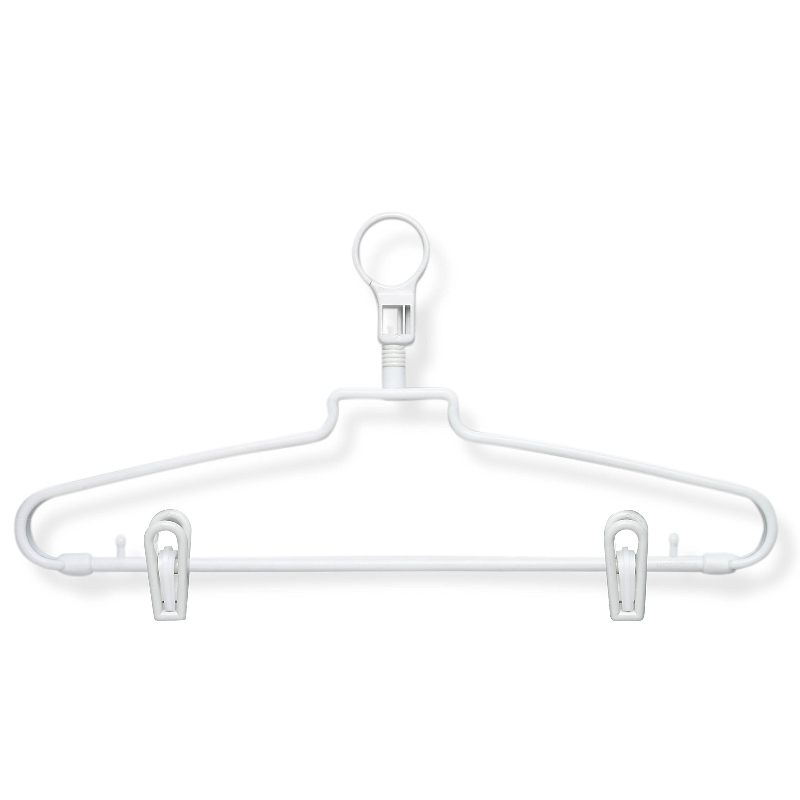 Honey-Can-Do HNG-01357 Hotel Hangers with Security Loop and Clips, 72-Pack