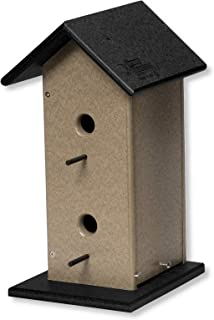 product image for DutchCrafters Eco-Friendly Poly Hanging Double Bird House (Weathered Wood & Black)