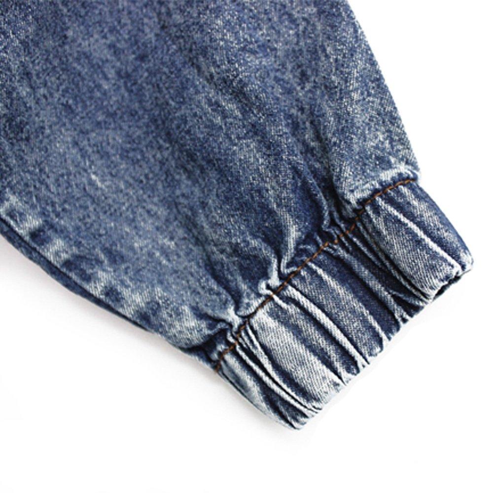 eec76babd Ninimour-Veste en jean à capuche pour femme (Bleu, M)