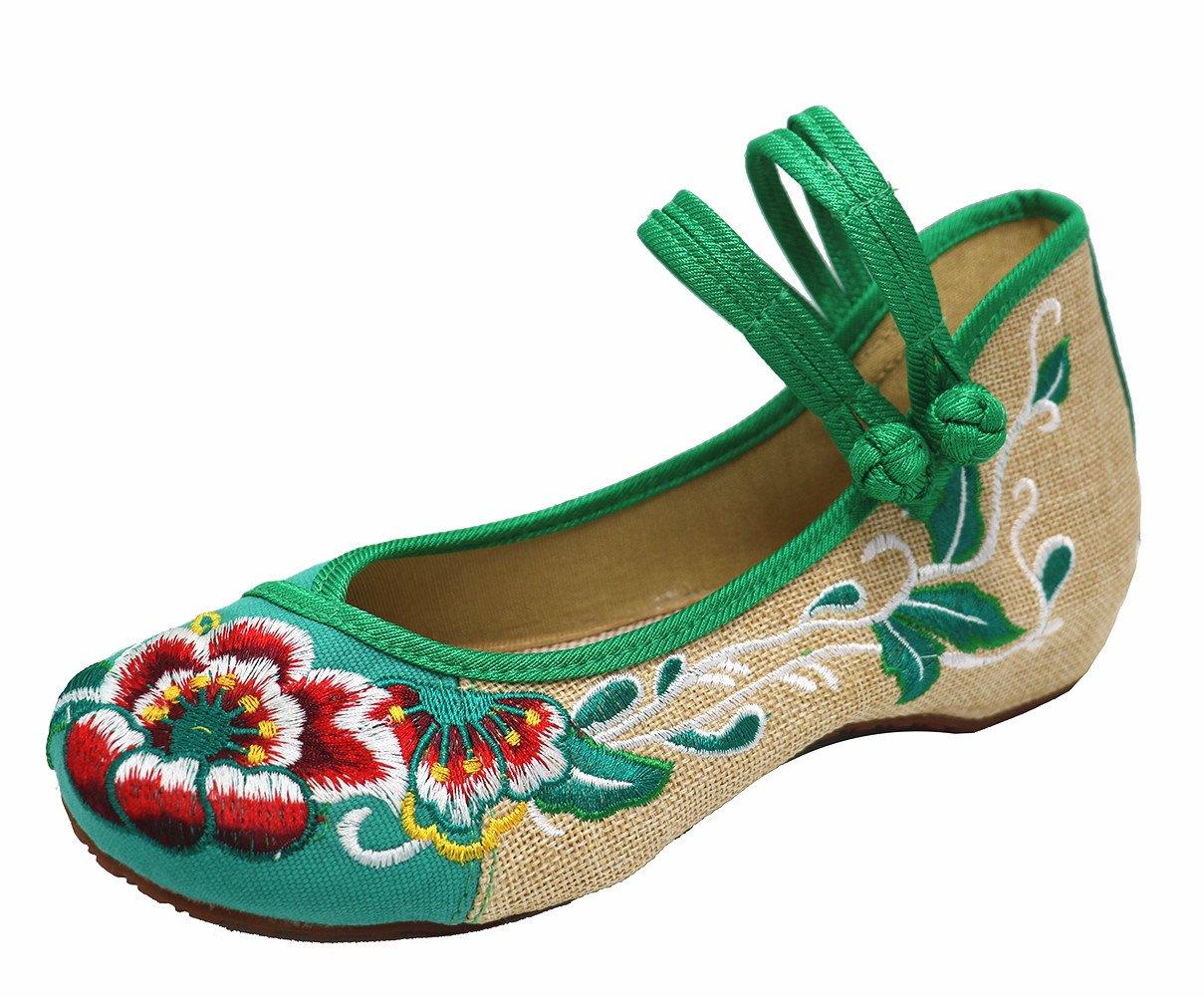 ICEGREY Main Mary Slip On Chaussures Femmes Fait Main Chaussures Broderie Fleur Deux Bracelet Basse Wedge Mary Jane Chaussures Vert 6a805b7 - piero.space
