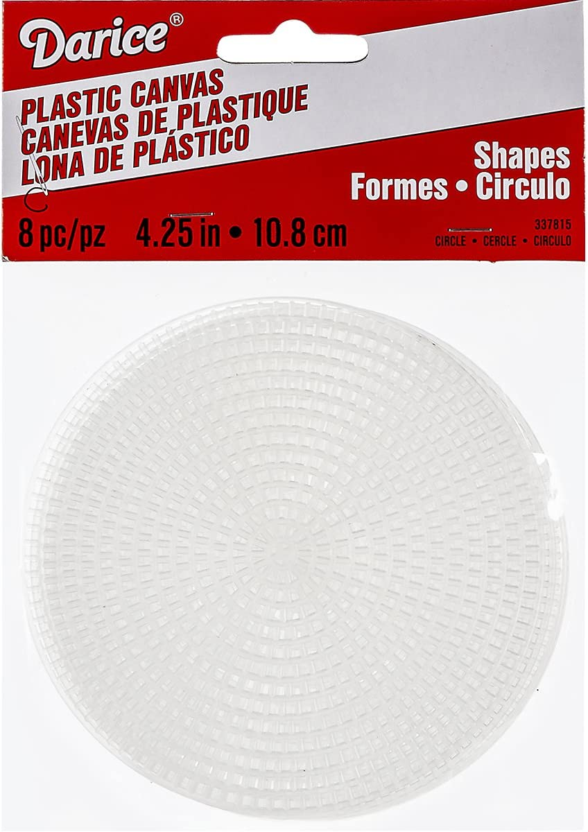4-1//4 Inches Pack of 8 Darice Plastic Canvas Circle
