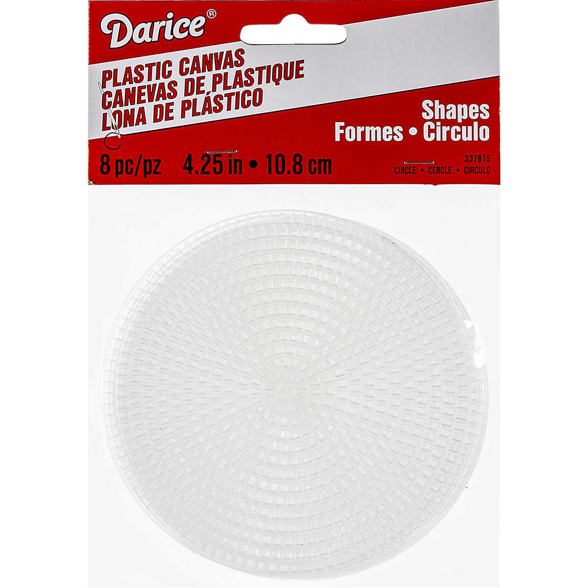Plastic Canvas Shape - Circle - 4-1/4 inches - 8 pieces Darice 337815