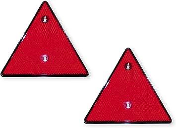 Las 10210 Dreieck Reflektor Zum Schrauben 2 Stück In Schwarz Roten Reflektoren 14 Cm X 16 Cm Auto