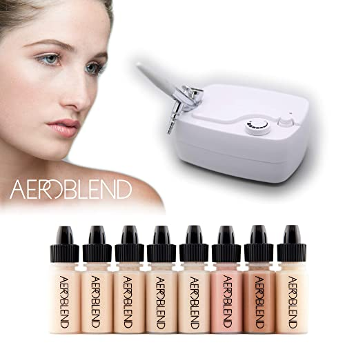 Aeroblend Airbrush Makeup Personal Starter Kit Professional Cosmetic System Light Foundation