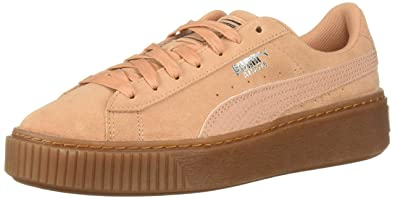 51d4c88e3bb PUMA Women s Suede Platform Sneaker Dusty Coral Silver
