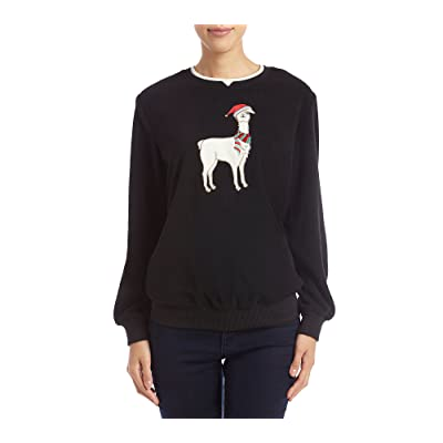 Alfred Dunner Petites' Llama Holiday Detail Sweater