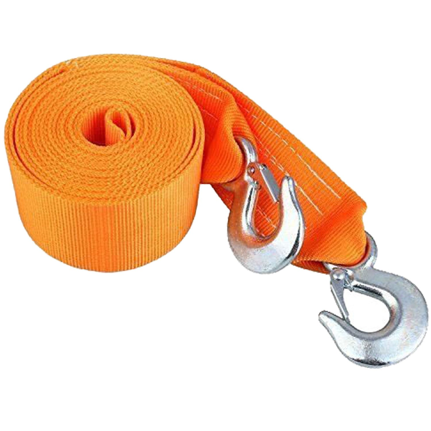 Tow Strap Heavy Duty, Recovery Strap 3'' X 20' 18,000 LB Break Strength Rope Winch Strap with 2 Hook by Selectec