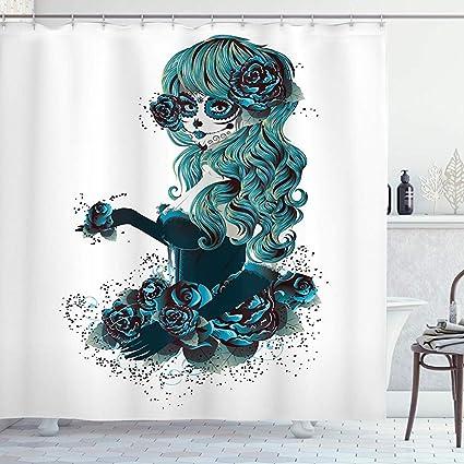 acheter rideau de douche tete de mort online 2