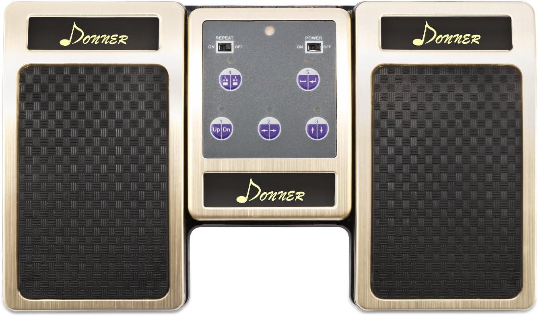 Donner Bluetooth Cambiador de Página Pedal de Música para iPad / Tableta Android / MAC / PC Color Dorado