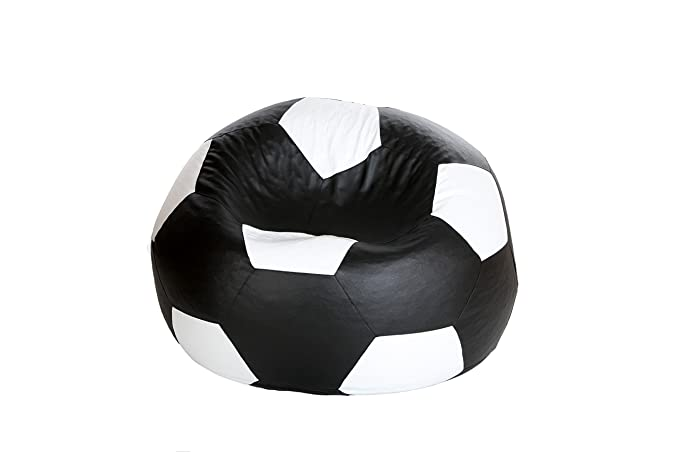 Comfy Bean Bags Football XXXL Bean Bag Without Fillers Cover (Black and White) Bean Bag Covers at amazon