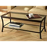 Amazon Com Winsome Genoa Rectangular Coffee Table With