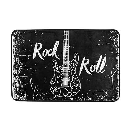 COOSUN Guitarra eléctrica y Las Letras Rollo de la Roca en el Fondo ...