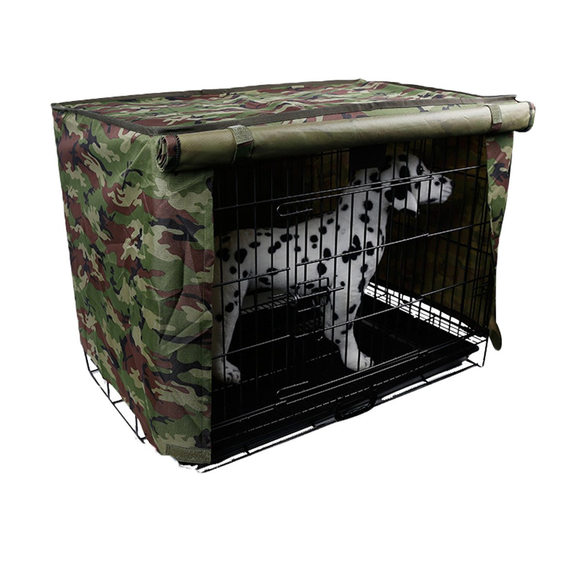 Spring Fever Multi Sizes Pet Kennel Covers Dustproof Windbreak for Dog Crates Green M(23.616.919.6inch)