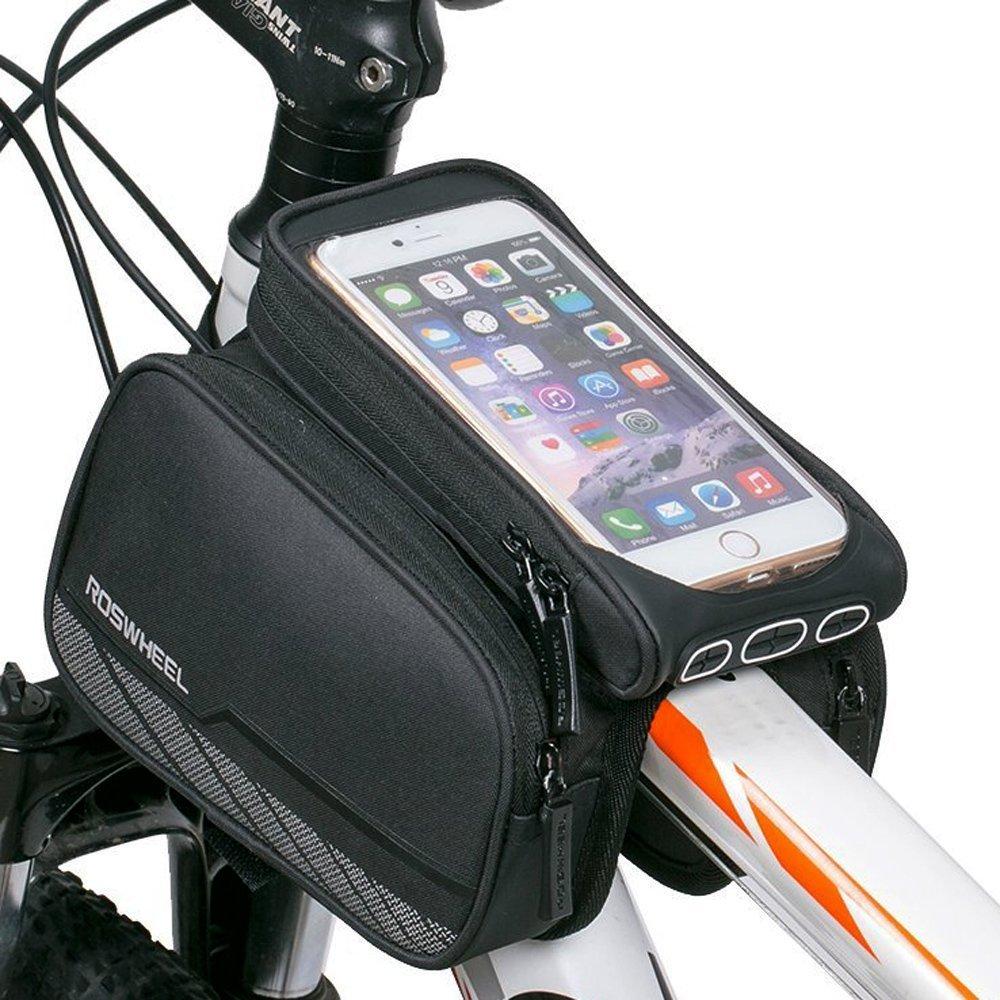 Borsa a telaio in bicicletta, Borsa a tubo superiore, Bicicletta impermeabile MTB Mountain Bike Road bicicletta testa anteriore con telaio tubo a doppio sacchetto borsa a tracolla per iPhone 7 7 Plus / 6 / 6S Plus Galaxy S7 Edge S6 Edge Plus S6 S5 LG HTC H