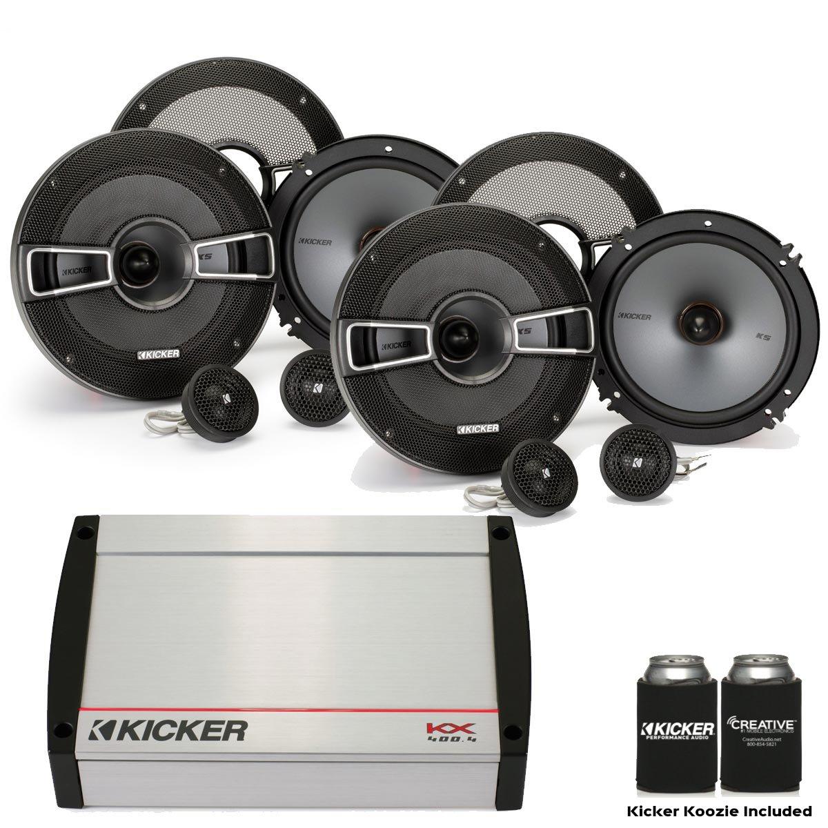 キッカースピーカーパッケージ – kx400.4 400ワット4チャネルAmp、2つのペアのkss654 6.5