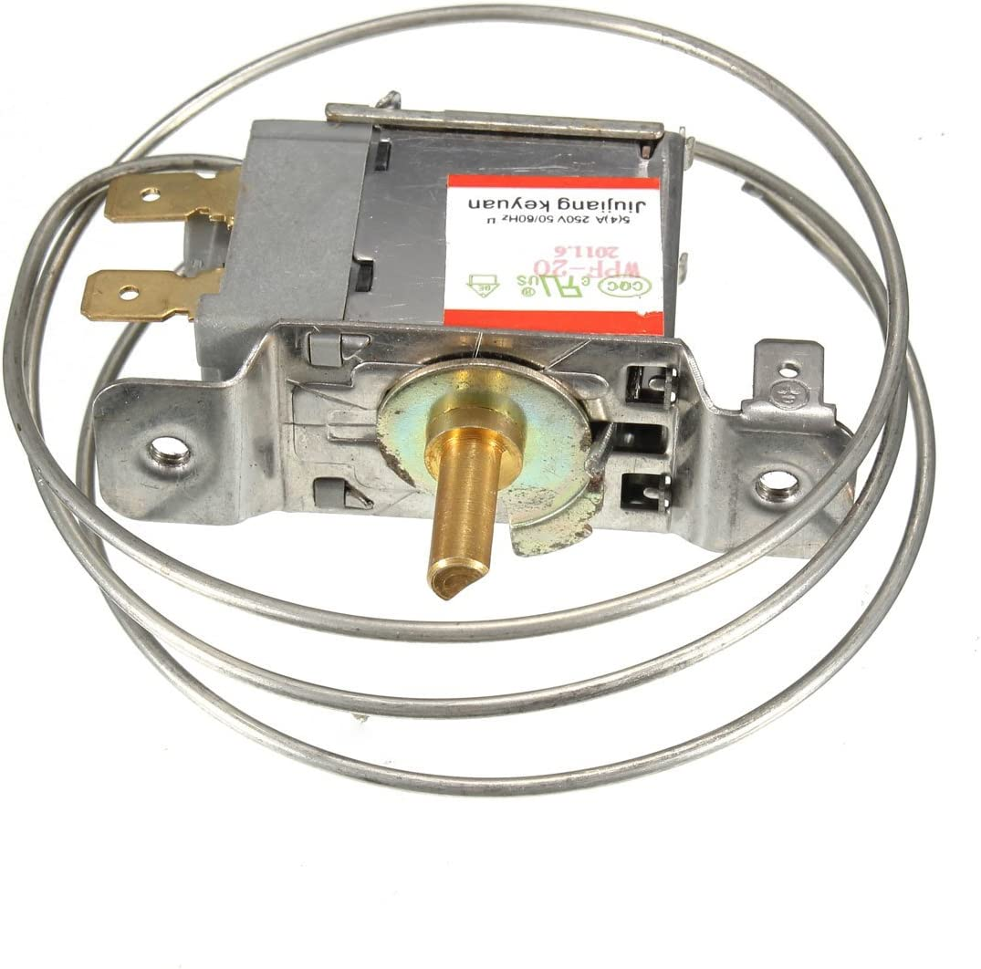 2 Pin WPF-20 Terminals Freezer Refrigerator Thermostat with Metal Cord/_c