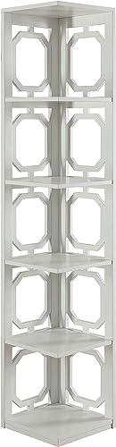 Convenience Concepts Omega 5 Tier Corner Bookcase