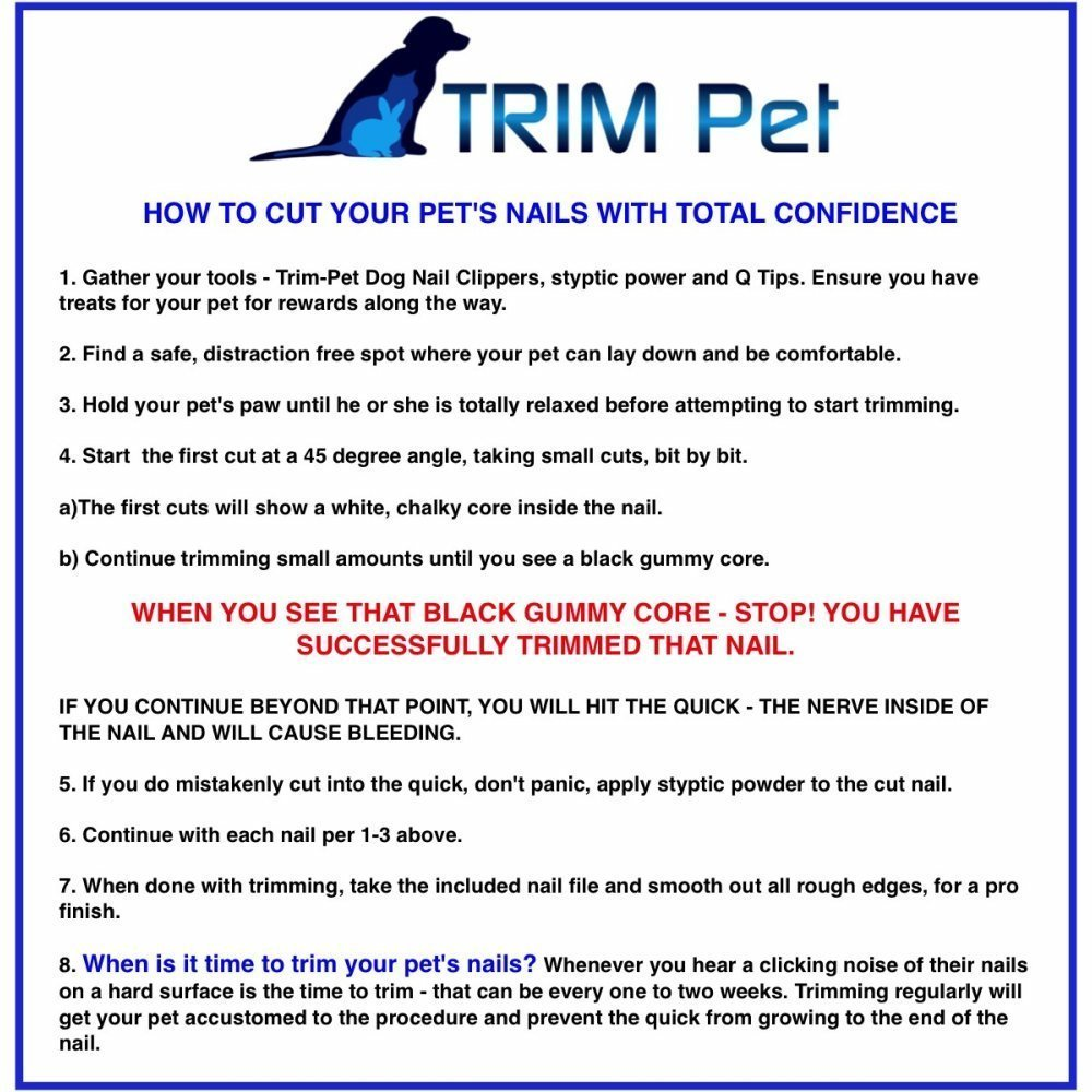 Amazon Trim Pet Dog Nail Clippers Professional Vet Quality