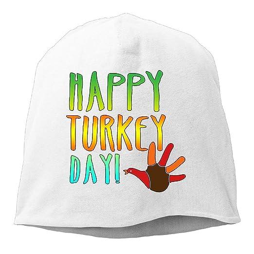 b77ebf70055 Bag shrot Happy Turkey Day Beanies Cap for Men Women at Amazon Men s ...