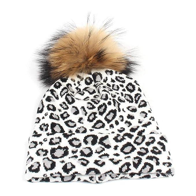 New Leopard Grain Edge Ladies Knit Hat Personality Fashion Racoon ... bfad3f4cd