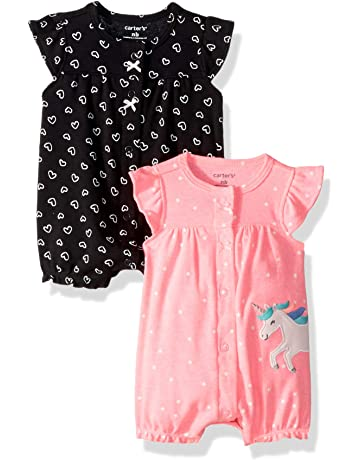 0132895c0400 Carter s Baby Girls  2-Pack Romper
