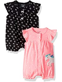 Carter s Baby Girls  2-Pack Romper 1586c08e0