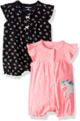 Carters Baby Girls 2-Pack Romper