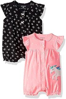 e16872f83 Amazon.com  Burt s Bees Baby Baby Girls Rompers
