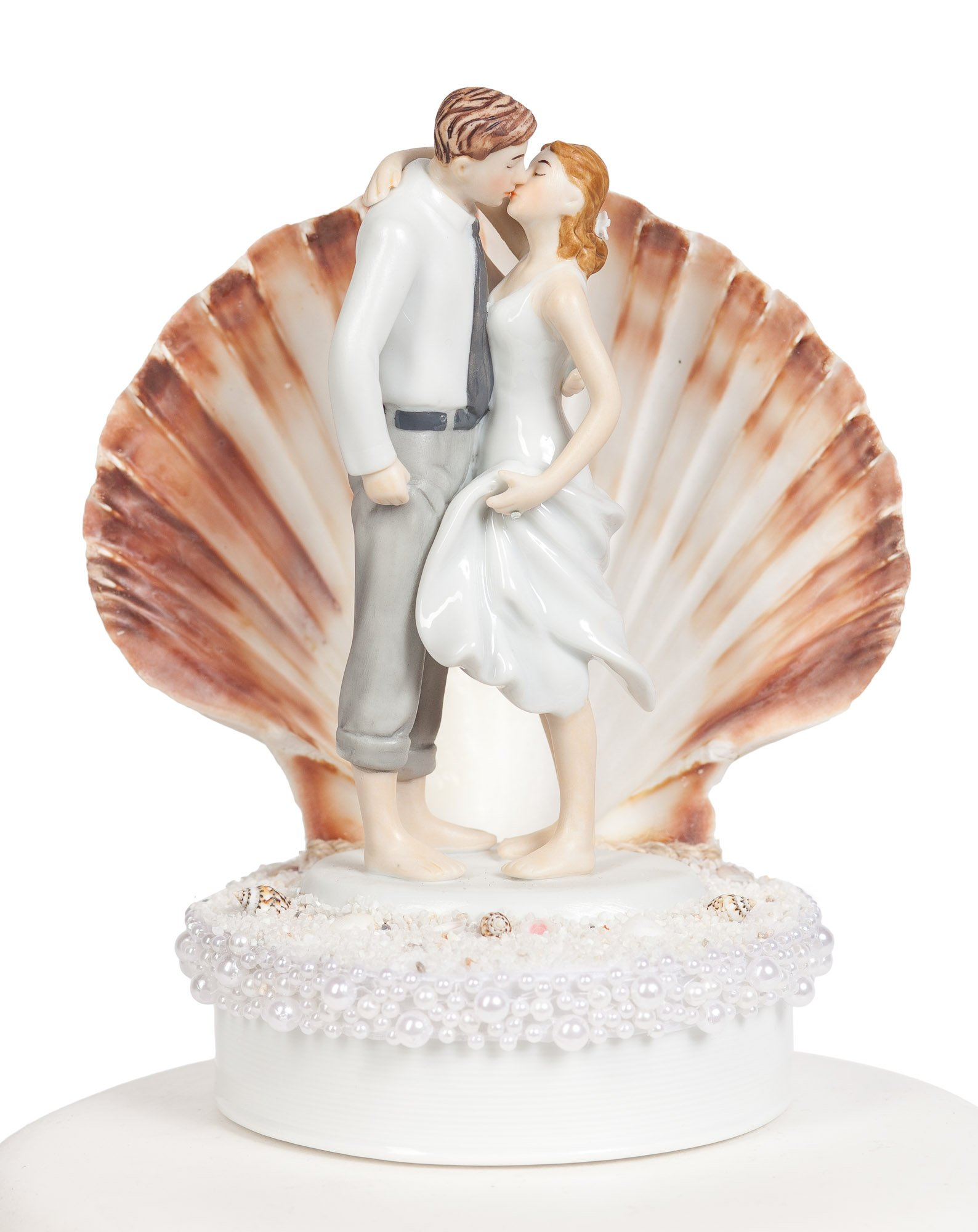 Wedding Collectibles Beach Get Away Shell Wedding Cake Topper by Wedding Collectibles (Image #1)