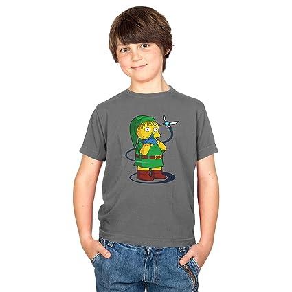 Nerdo Nose Flute-Kinder T-Shirt Camiseta, Unisex Niños, Gris ...