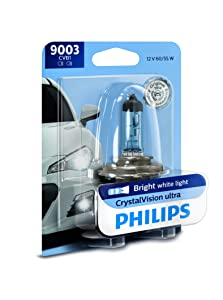 Philips 9003 CrystalVision Ultra Upgrade Bright White Headlight Bulb