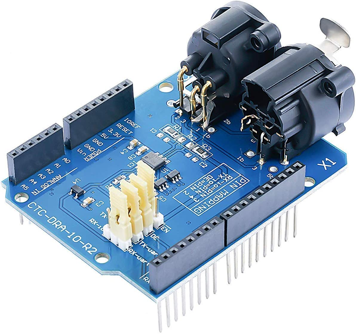 pzsmocn DMX Shield for DMX512 Network and Arduino Master Device. LED//Music Remote Device Management Functions Extended DMX Master and Slave Features Onboard MAX485 Chip