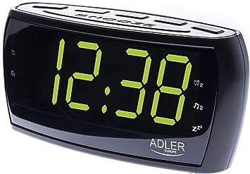 Adler AD 1121 - Reloj Despertador, Color Negro: Amazon.es: Electrónica