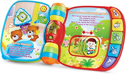 Childrens VTech Nursery Rhymes Book Musical Light Sounds Talking Baby Toys Books